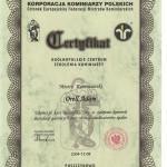 Certyfikat II Adam Orell