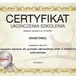 Certyfikat Poujoulat Adam Orell