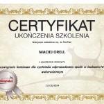 Certyfikat Poujoulat Maciej Orell