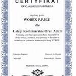 Ceyfikat WOBEX Adam Orell