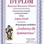 Dyplom Kominiarz roku Adam Orell
