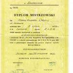 Dyplom Mistrzowski Adam Ryszard Orell