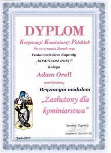 dyplom korporacji kominiarzy polskich